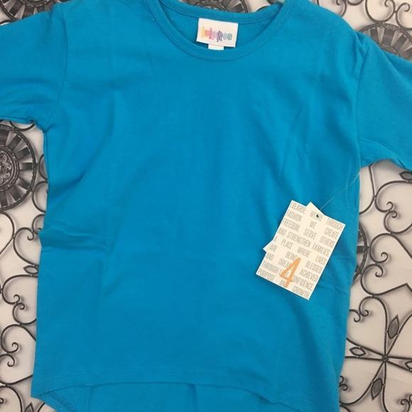 c18063fb1bca6 LuLaRoe Shirts & Tops | Kids Gracie Tunic Top Highlow Solid Blue ...